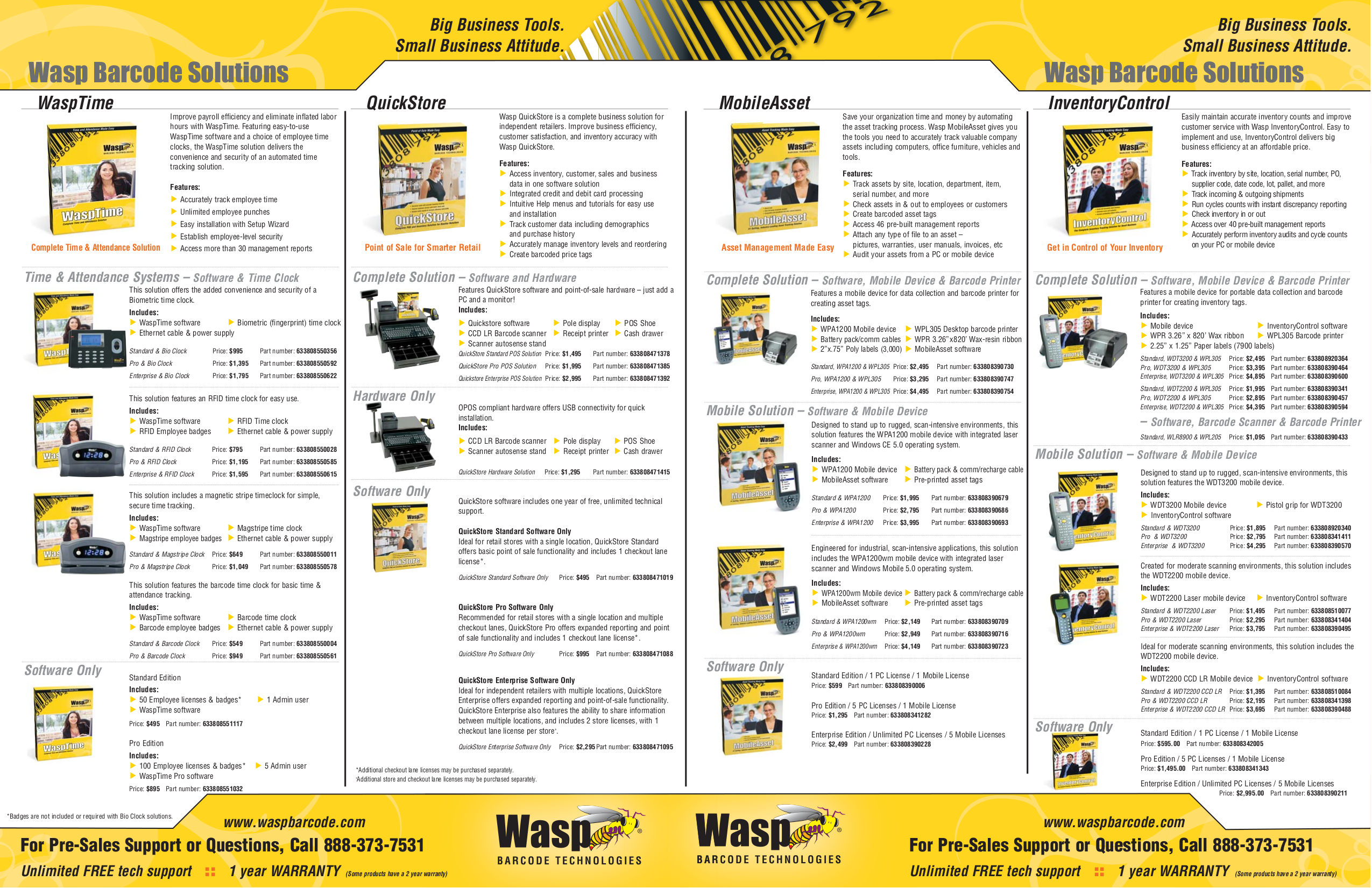 pdf for Wasp Printer WPL610 manual